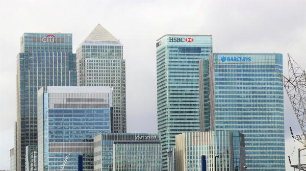 Glass buildings in London