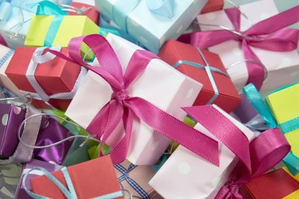 A pile of gift boxes